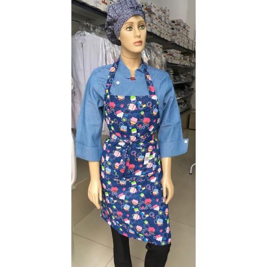 Avental Frente Cupcake Azul